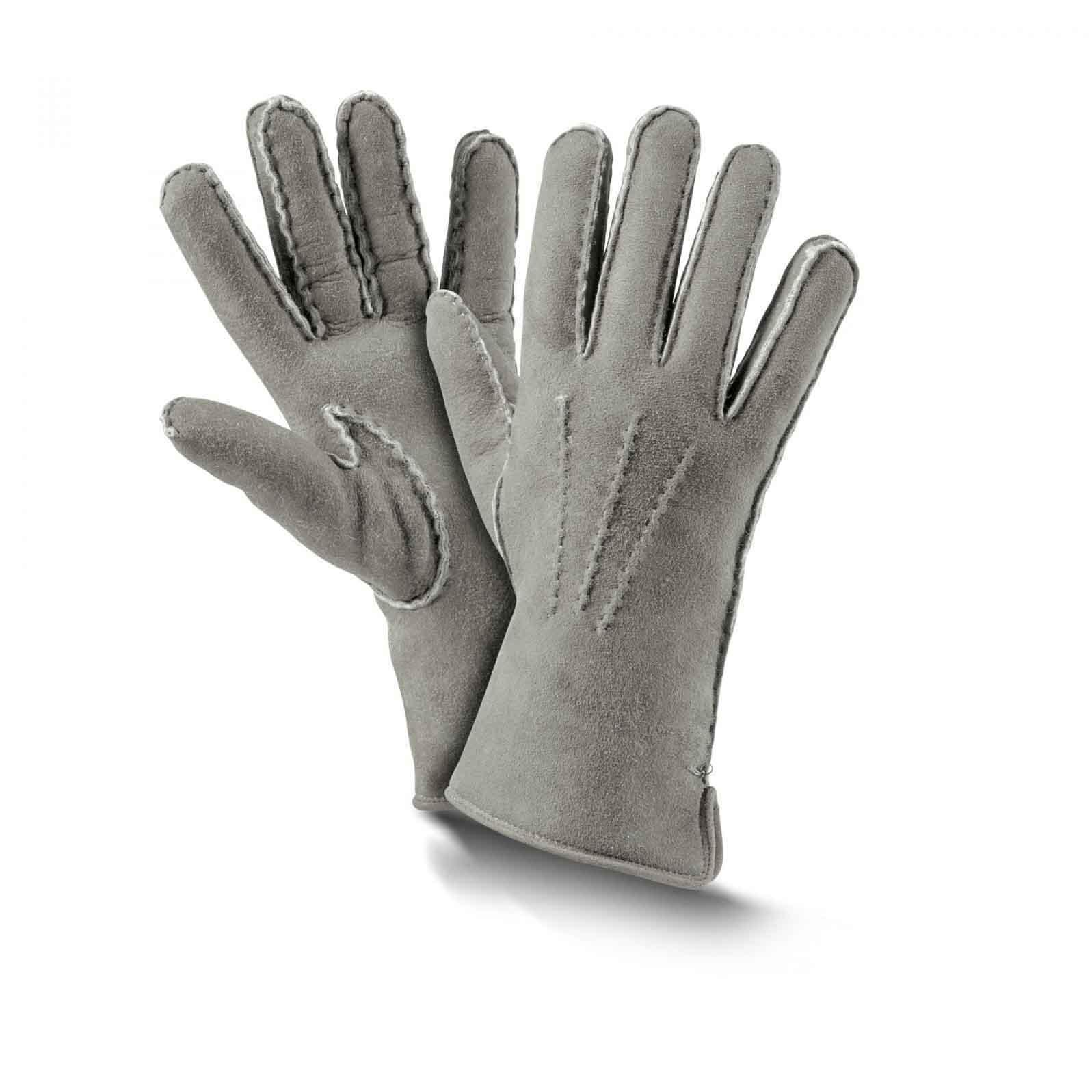 gestrickt Grau Handschuhe Kaninchenfell Echtes Fell